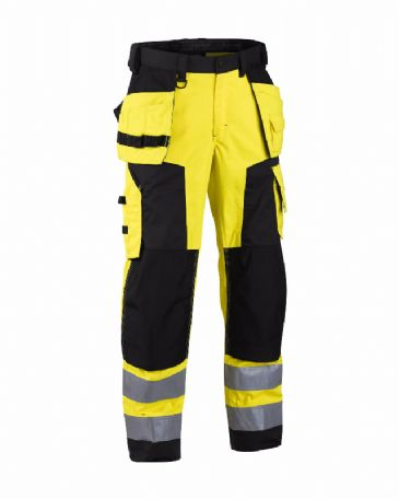 Blaklader 1568 High Visibility Craftsman Trousers (Yellow/Black)